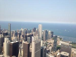 シカゴの上空から